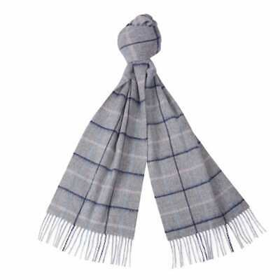 Barbour Country Tattersall Scarf Grey/Blue/Pink - MID SEASON SALE