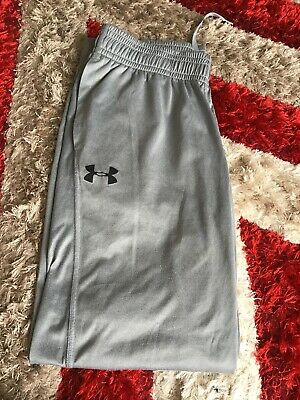 mens Under Armour tracksuit bottoms Lrg Silver Grey
