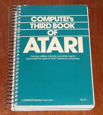 Book: Compute!'s 3rd Book of Atari for 400 800 600XL 8-bit vintage computer