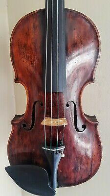 Fine Old Antique 18th Century German Violin w/Grafted Scroll Nice Setup *VIDEO*