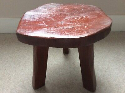 Vintage Solid Oak Wanderwood Three Legged Milking Stool