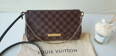 100% Authentic Louis Vuitton Favorite Damier MM + Dust cover