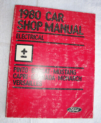 Orig. Printing 1980 Ford Mercury Lincoln Car Shop Manual -  Electrical Section