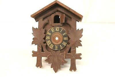 Vintage Cuckoo Clock House Housing Only Empty Germany Black Forest For Parts Rpr