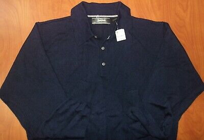 Neiman Marcus Exclusive Merino Wool/Silk/Cashmere Polo Sweater L ~NWT~