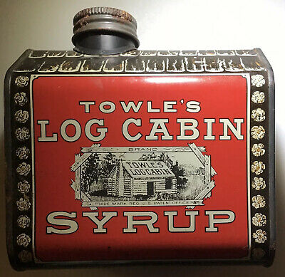 Vintage Towle's Log Cabin Syrup Tin Bank Dated 1979