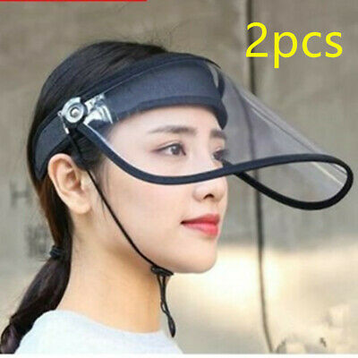 New Safety Face Shield Clear Visor Splash Prevention Unisex Hats Hot Sale To US