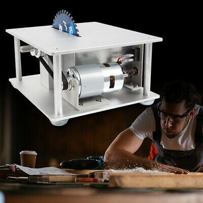 Portable Electric Mini Benchtop Table Saw Adjustable 96-120W Home Workshop Use