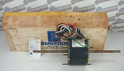 "EMERSON KA55HXSGJ-9932 BLOWER MOTOR 230V, 6"" x 1/2"" Shaft 1/6 Hp, 1075 RPM 3 Spd"