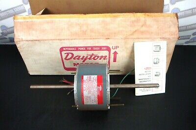 "DAYTON 4M022 ( BLOWER FAN MOTOR AC ) 230V, 6"" x 1/2"" Shaft 1/5 Hp-1075 RPM 3 Spd"