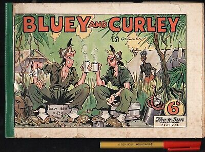 WWII 1944 Australian Army soldiers in New Guinea BLUEY and CURLY Alex Gurney
