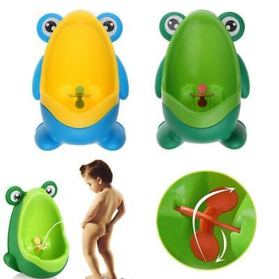 Kid Baby Children Potty Urinal Toilet Training Boy Bathroom Frog Pee Trainer New