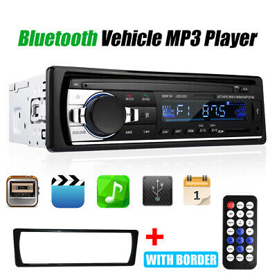 1DIN Autoradio MP3 Player USB/SD Bluetooth FM Stereo AUX-IN WMA Fernbedienung DE
