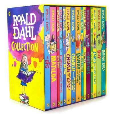 Roald Dahl 15 Books Box Set Collection Going Solo, Matilda NEW