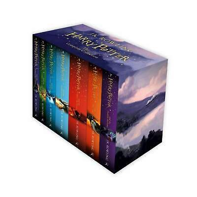 Harry Potter Full 7 Books Box Set Collection by J K Rowling - Purple Box NEW