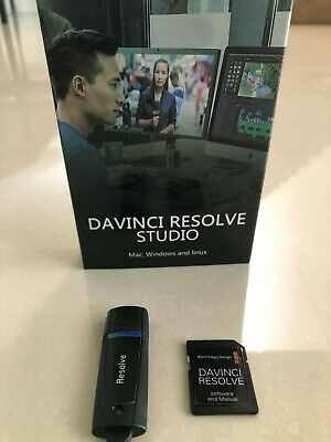 Blackmagic Davinci resolve studio 16.2 Dongle  with Dongle SD card with Software