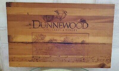 "Vineyard Sign Engraved Wood Dunnewood 21.75"" x 13.5"""