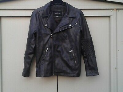 Girls Grey River Island Biker Faux Leather Jacket Age 10 Years