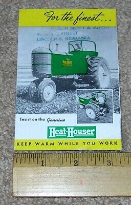 Vntg HEAT-HOUSER Protects Warms Tractor Dealer Stamped Sales Brochure Catalog