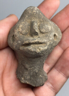 Pre-Columbian Terracotta Pottery Head Artifact Ancient Ritual Ceremony ANTHRO