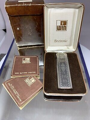 Rare Win Vintage Lighter 9500 Box And Papers