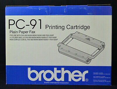 Genuine Brother PC-91 Black Thermal Print Cartridge Ribbon (Fax)