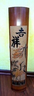 China Japan Bambus Schnitzerei Chinese bamboo carving Bild picture carved