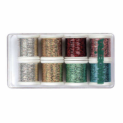 1x Gift Box Thread Polyneon Fluorescent 8x200m Spools Sewing Craft Tool Hobby
