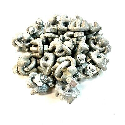 """Cable U-Bolt Clamp Wire Rope Clip 1/4"""" Pack of 20"""