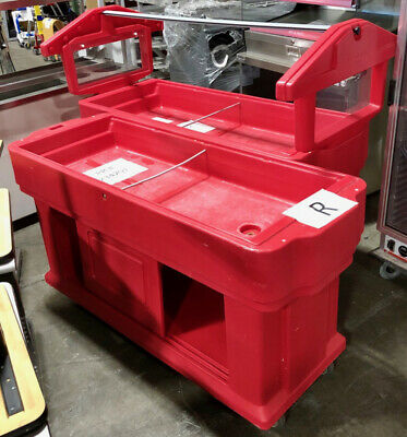 Lot of 2 CAMBRO Portable Salad Bars, Food Serving Station, Catering Cafeteria