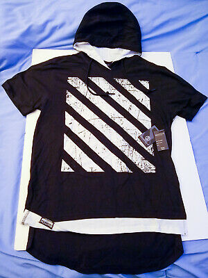 Men/'s Switch Remarkable urban hip hop short sleeve hoodie big sizes new with tag