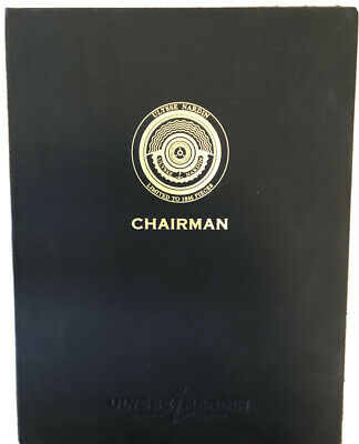 Authentic Ulysse Nardin Chairman Brochure In Hardcover Case Rare