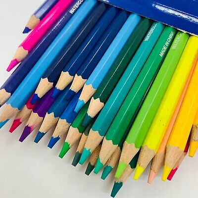 Watercolor Pencils Water Coloring Drawing Art 12,24,36,48 Colors Set