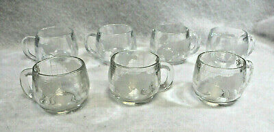 Nestle Nescafe Etched World Globe Glass Coffee Cups Vintage Lot of 4  S8711