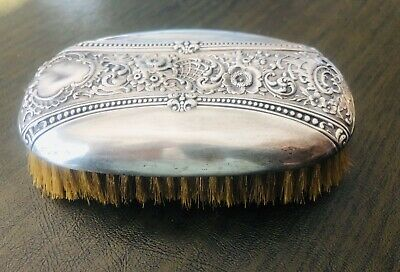 "VINTAGE - 1940's VANITY STERLING SILVER BUFFING BRUSH 3"" x 5"""