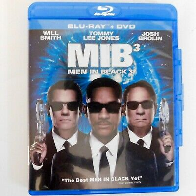 Men In Black 3 MIB III (Blu-ray Disc, 2012, plus DVD w Slipcover) Will Smith