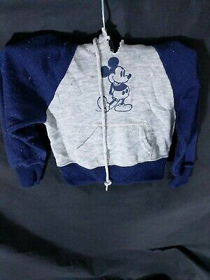 Vtg 80s Disney Hoodie Sz 2-4 Child Made In USA Mickey Mouse