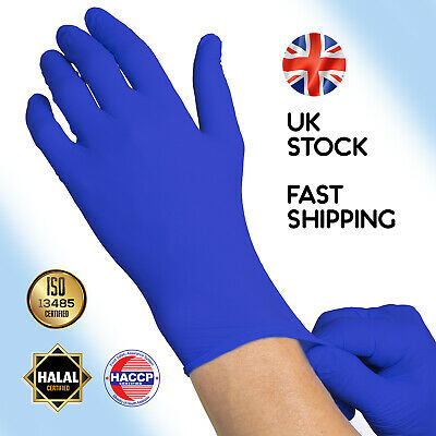 Nitrile Gloves Size M L Disposable Vinyl Latex Powder Free Safety Protect Clean