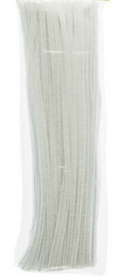 "100 -Pack 12""x 6mm (1/4"") Pipe & Firearm Chenille Stem (Pipe) Cleaners, White"
