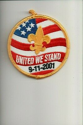 9-11-2001 UNITED WE STAND NATIONAL FIREFIGHTERS BAR PIN NIP