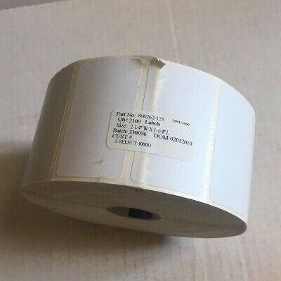 "Quickbooks POS Labels 2.25"" x 1.25 6 Rolls 800262-125"