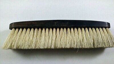 Antique Vintage CARMEN TRADEMARK Real Ebony Wood Handle Clothes Grooming Brush