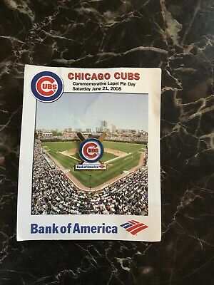 Hat Pin Chicago Cubs Bank Of America 2008