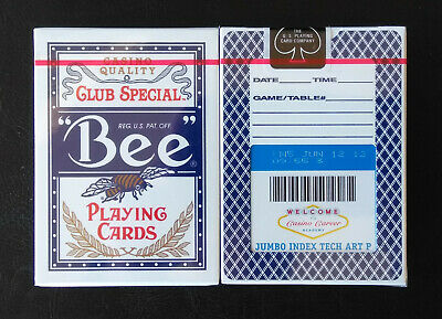 "1 DECK ""Casino Career Academy"" Blue Bee Playing cards, New & Sealed"