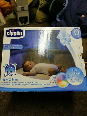 Blue Chicco Next 2 Stars Cot Projector Baby Nightlight with Music /& Light