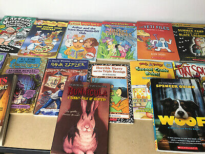 BOY Lot of 10 Chapter Books Children's Youth Readers Home School RANDOM MIX