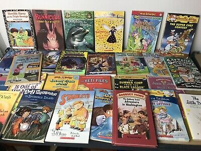 Lot of 20 RANDOM Children's Kids Chapter Books Instant Library Unsorted Bundle