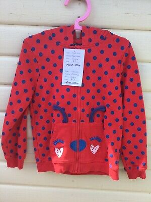 George Age 5-6 Years Red Spotty Zip Front Hoody*