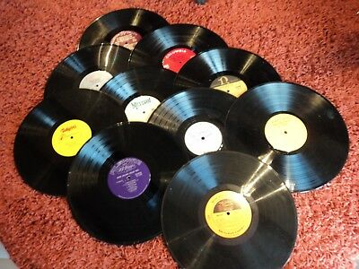 Job lot 10 x 12 inch LP vinyl records for craft, upcycling projects etc