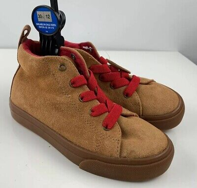 M&S Marks & Spencer Kids Tan leather elasticated laces size 12 EU 30.5